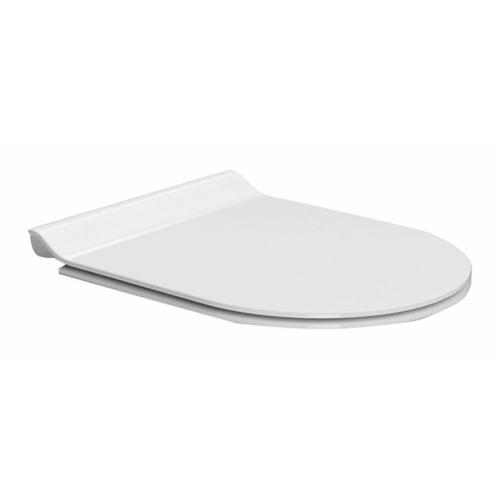 GSI NORM SLIM soft close WC-ülőke, duroplast, fehér/króm