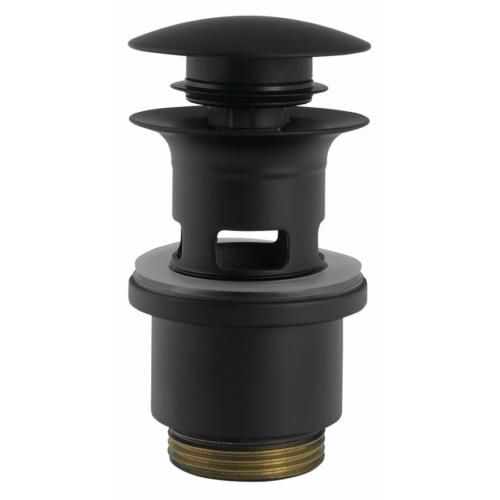 Sapho SILFRA klik-klak mosdó lefolyó, V 40-64mm,matt fekete
