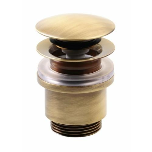 Sapho Klik-Klak mosdó lefolyó, túlfolyó nélkül, magasság 3-60mm, bronz