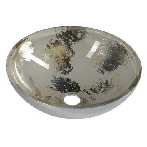 Murano Anima 2 üvegmosdó, átmérő: 40x14 cm, bézs