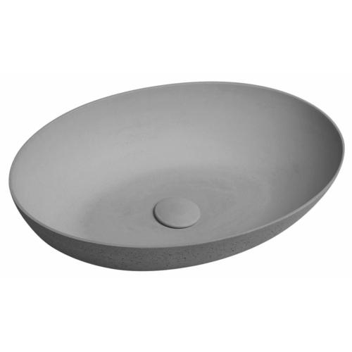 FORMIGO beton mosdó, 60x14,5x40,5cm, világos szürke