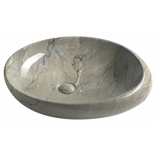 Sapho Dalma kerámiamosdó, 68x44x16,5cm, szürke márvány