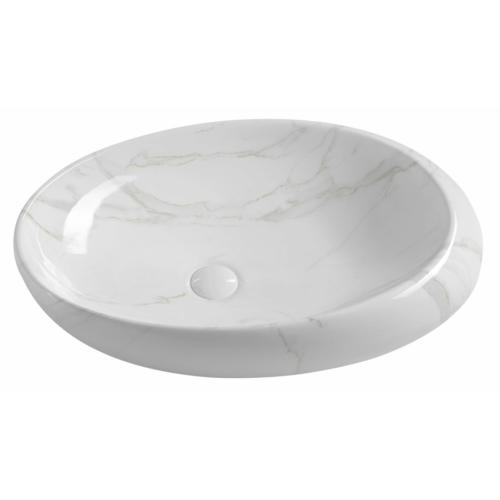 Sapho Dalma kerámiamosdó, 68x44x16,5cm, fehér márvány
