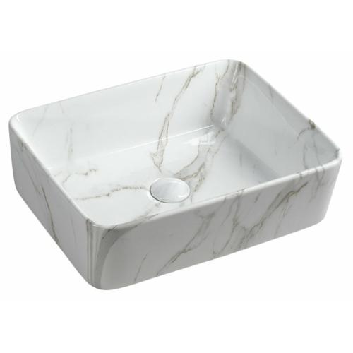 Sapho Dalma kerámiamosdó, 48x38x13cm, fehér márvány