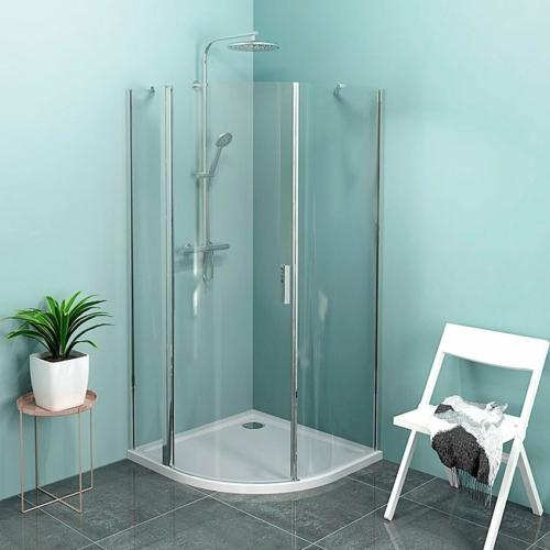 POLYSAN ZOOM LINE íves zuhanykabin, balos, 900x900mm,