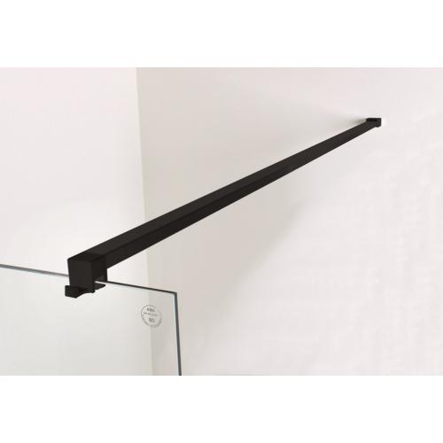 Sanplast Pót kitámasztó, Walk-in, 150cm, köntös akasztóval, matt fekete  661-A0045-59