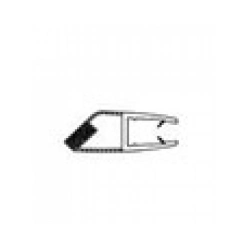 Ajtóélzáró mágneses profil Szögletes Kabinokhoz 5 mm (2 db)