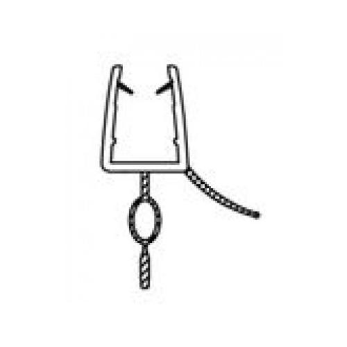 Vízzáró szilikon profil/alsó 6 mm