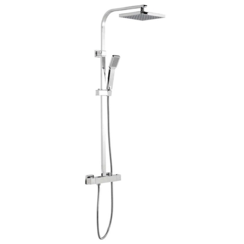Aqualine Jane teleszkópos zuhanyoszlop, termosztátos csapteleppel, mag.: 930-1240 mm, bekötés: 150 mm, króm
