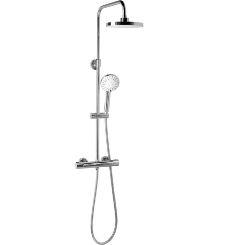 Aqualine Liga teleszkópos zuhanyoszlop termosztátos csapteleppel, mag.: 710-1280 mm, bekötés:150 mm, króm