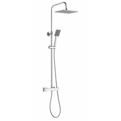 AQUALINE TALIA teleszkópos zuhanyoszlop termosztátos csapteleppel, mag.:760-1280mm, bekötés:150mm, króm